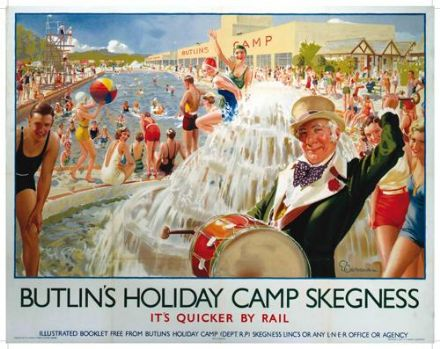 Butlins- SKEGNESS Holiday Camp Metal Wall Sign (3 sizes)